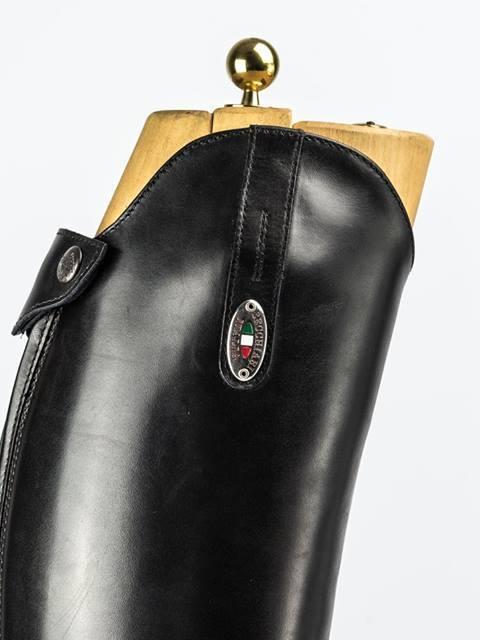 Botte standard veau noir lisse + lacets (Femme)